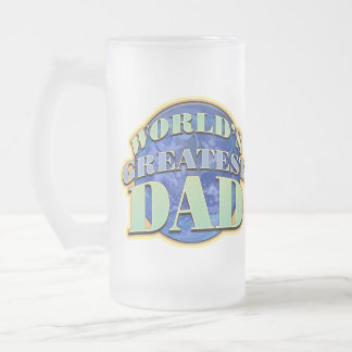 World's Greatest Dad Frosted Glass Mug