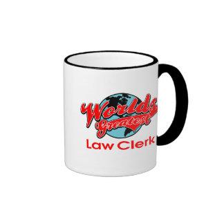 World's Greatest Law Clerk Ringer Mug