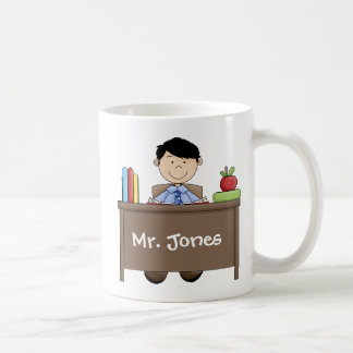 World's Greatest Male Teacher Basic White Mug