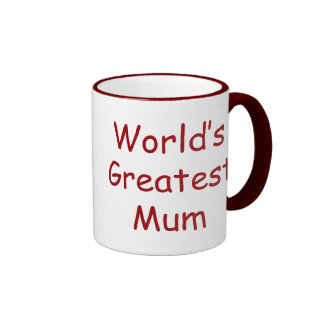 Worlds Greatest Mum Ringer Mug