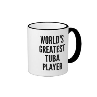 Worlds Greatest Tuba Player Ringer Mug