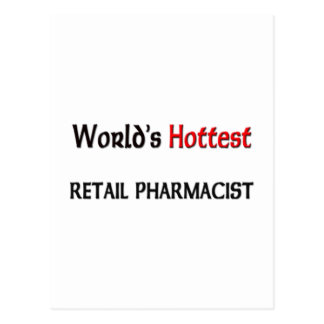 Worlds Hottest Retail Pharmacist Postcard