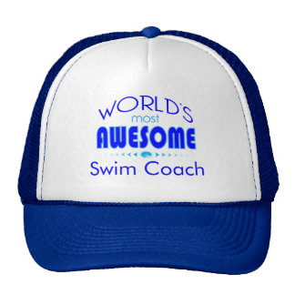 World's Most Best Swim Coach Swimming Instructor Cap