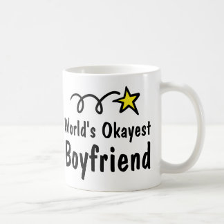 World's Okayest Boyfriend Coffee Mug Gift
