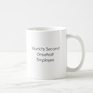 World's Second Greatest Employee - Customized Basic White Mug