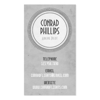 Worn Vintage Circle Graphic - Style 6 Pack Of Standard Business Cards
