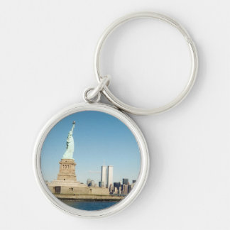 wtc liberty Silver-Colored round key ring