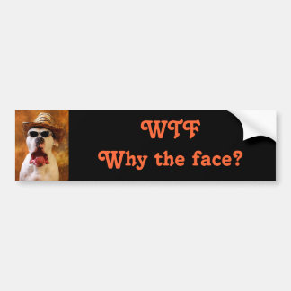 WTF Why the face? Bumper Sticker