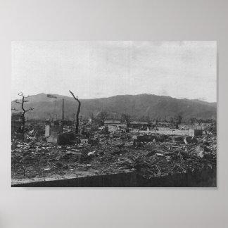 WWII Atomic Bomb Photo of Hiroshima Poster