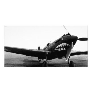 WWII Flying Tigers Curtiss P-40 Fighter Plane Photo Greeting Card
