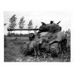 WWII KIA British Firefly Tank, Holland Postcard
