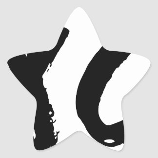 XO Brush Minimal Star Sticker