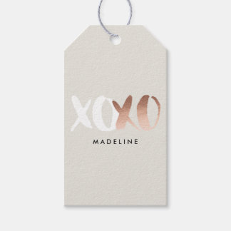 XOXO Rose Gold Foil Gift Tags