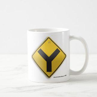 Y Intersection Basic White Mug