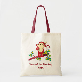 Year of the Monkey Red 2016 Tote Bag