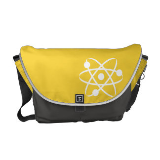 Yellow Amber Atom Messenger Bag