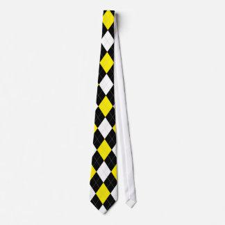 Yellow Argyle Tie