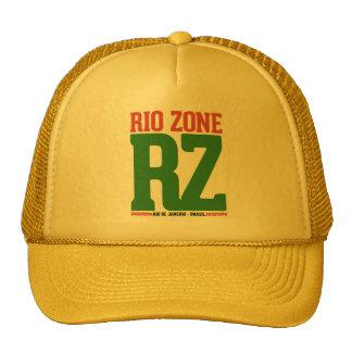 Yellow cap, with print Rio Zone RZ, yellow CAP