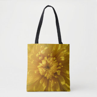 Yellow Chrysanthemum Flower Autumn Floral Tote Bag