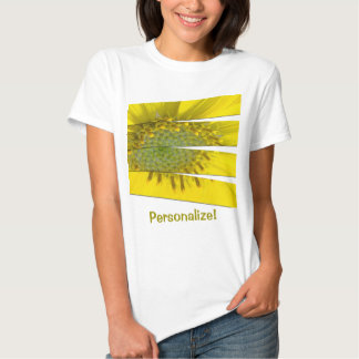 Yellow Flower Four Panel Design Tee Shirt