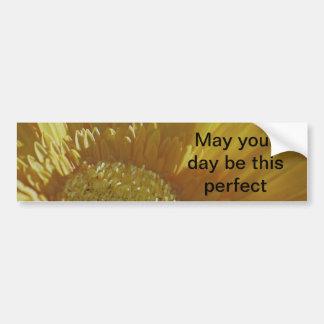 Yellow Gerbera Daisy Bumper Sticker