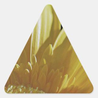 Yellow Gerbera Daisy Triangle Sticker