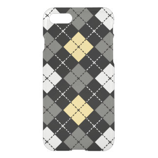 Yellow Grey and White Argyle Pattern iPhone 7 Case