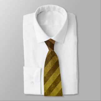 Yellow Grunge Stripe Pattern Tie