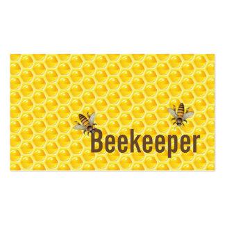 Yellow Honey Bees Beekeeper Business Card