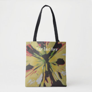 Yellow Lily flower original abstract art design Tote Bag