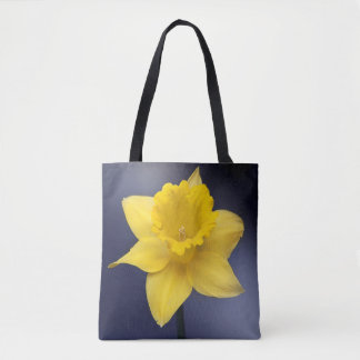 Yellow Narcissus Flower Floral watercolor paint Tote Bag