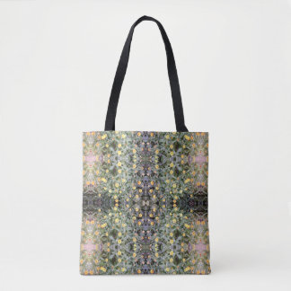 Yellow & Orange Flower Fractal Tote Bag