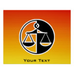 Yellow Orange Justice Scales Poster