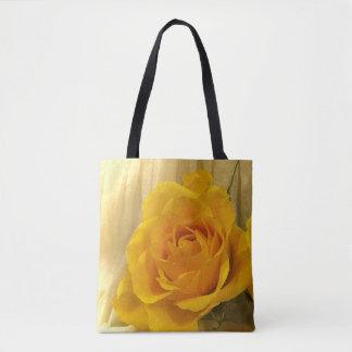 Yellow Orange Rose Garden Flower Tote Bag