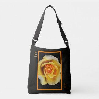 Yellow Rose and Design Cross Body Bag Tote Bag