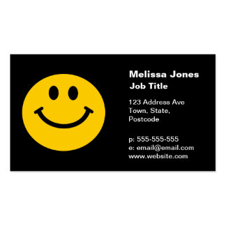 Yellow Smiley Face Pack Of Standard Business Cards