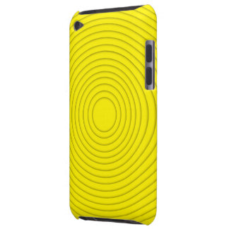 yellow spiral illusion ipod touch iPod touch Case-Mate case