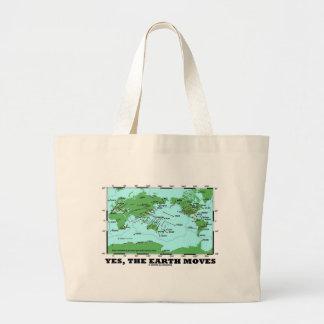 Yes The Earth Moves (Plate Tectonics Earthquakes) Jumbo Tote Bag