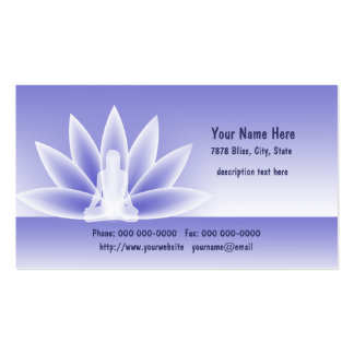 Yoga Lotus Woman Blue  Business Apointment Pack Of Standard Business Cards