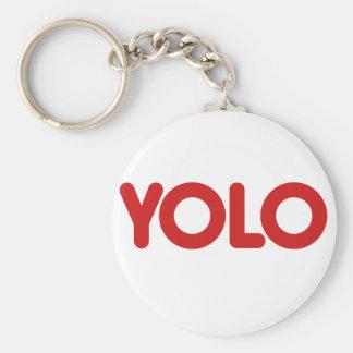 YOLO BASIC ROUND BUTTON KEY RING