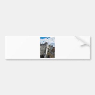 York Minster and Bootham Bar Bumper Sticker