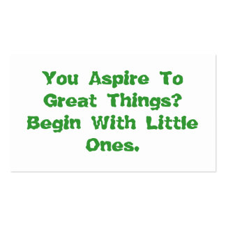 You Aspire To Great Things Motivational Card Pack Of Standard Business Cards