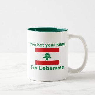 You bet your kibbi I'm Lebanese Two-Tone Mug