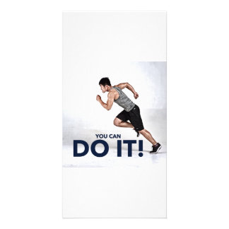 You Can Do It! - Greeting Card / Motivational Card Custom Photo Card