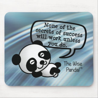 You must work hard for success mouse pad