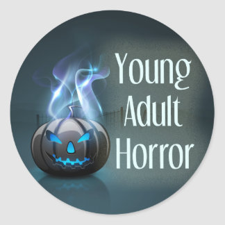 Young Adult Horror Genre Book Cover Round Sticker