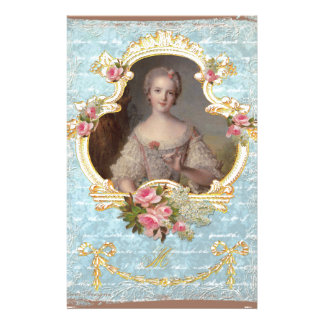 Young Queen Marie Antoinette Pink Roses Invitation Customized Stationery