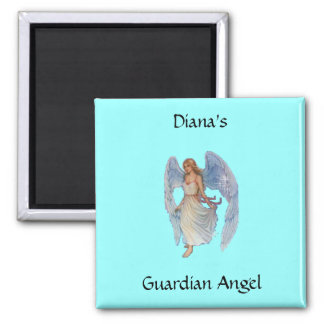 Your Guardian Angel Square Magnet