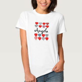 Your Name Hearts Tshirt