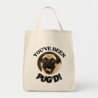 YOU'VE BEEN PUG'D - FUNNY PUG TOTE GROCERY TOTE BAG